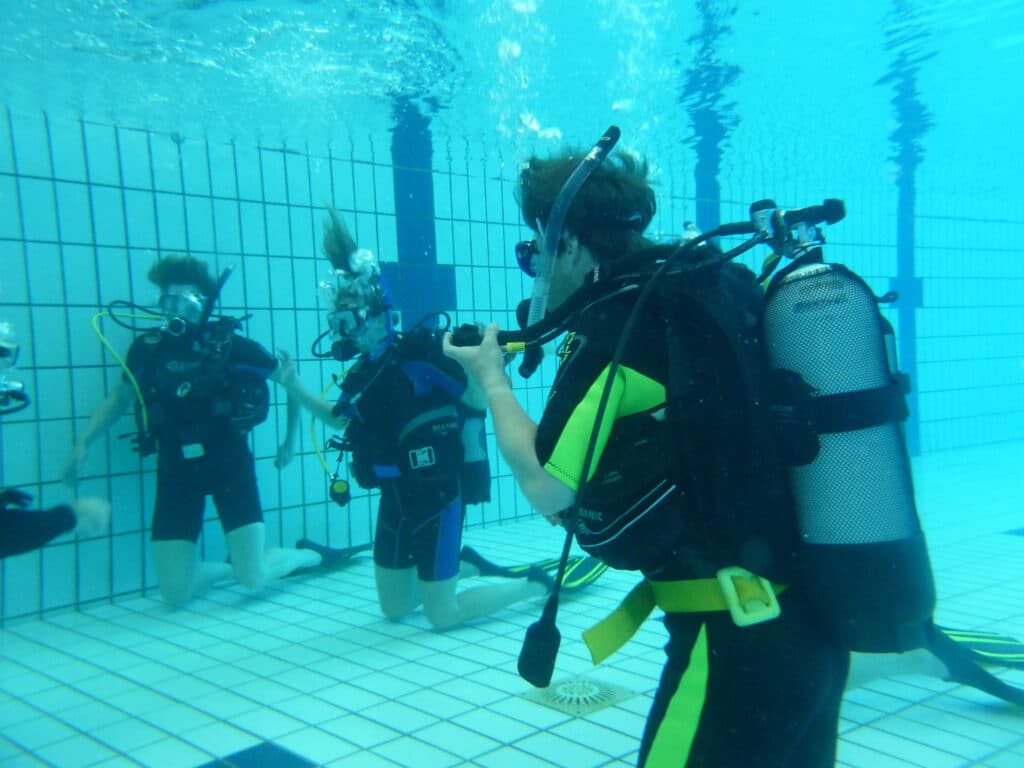 Zwembad proefduik
